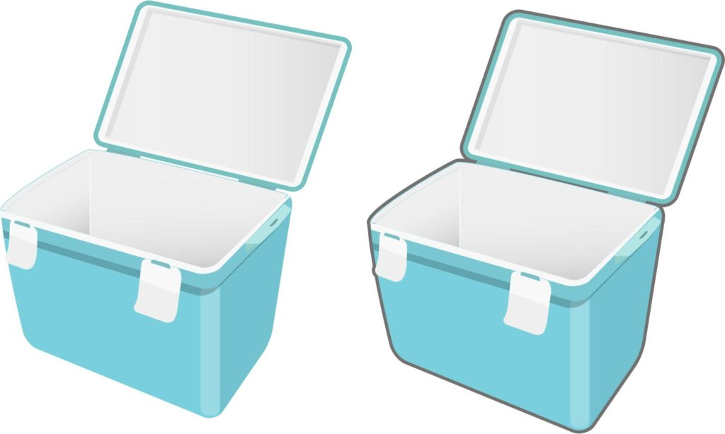 洗ったクーラーボックスは、しばらくふたを開けて、乾かします。