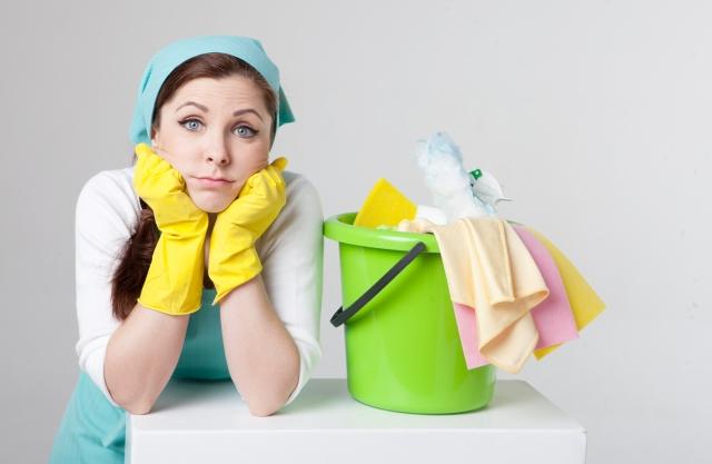 掃除は休みの日にまとめてやる