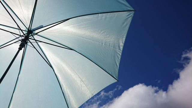 白い傘の汚れって取れる?